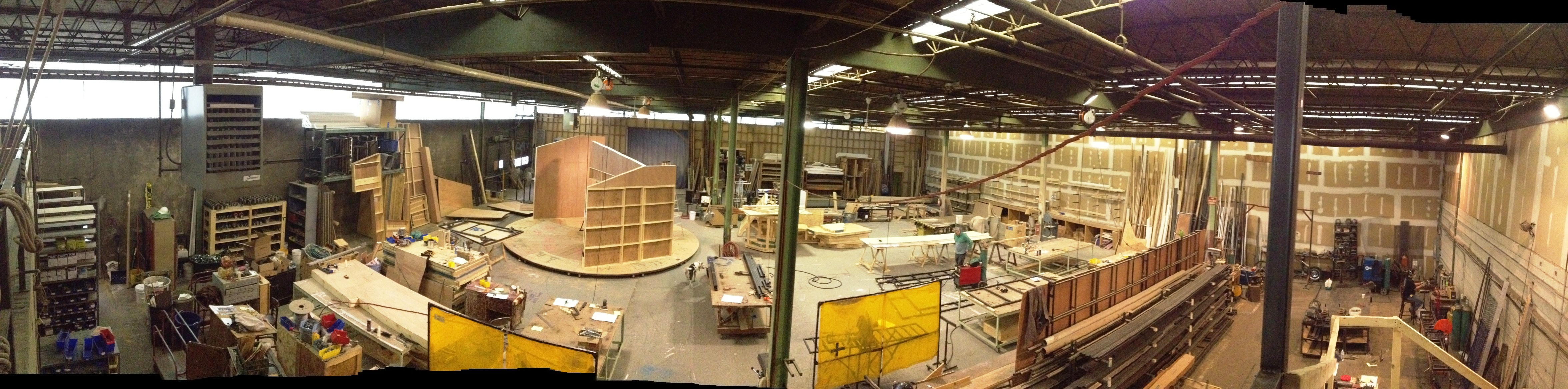 Panoramic view of GSP Scene Shop