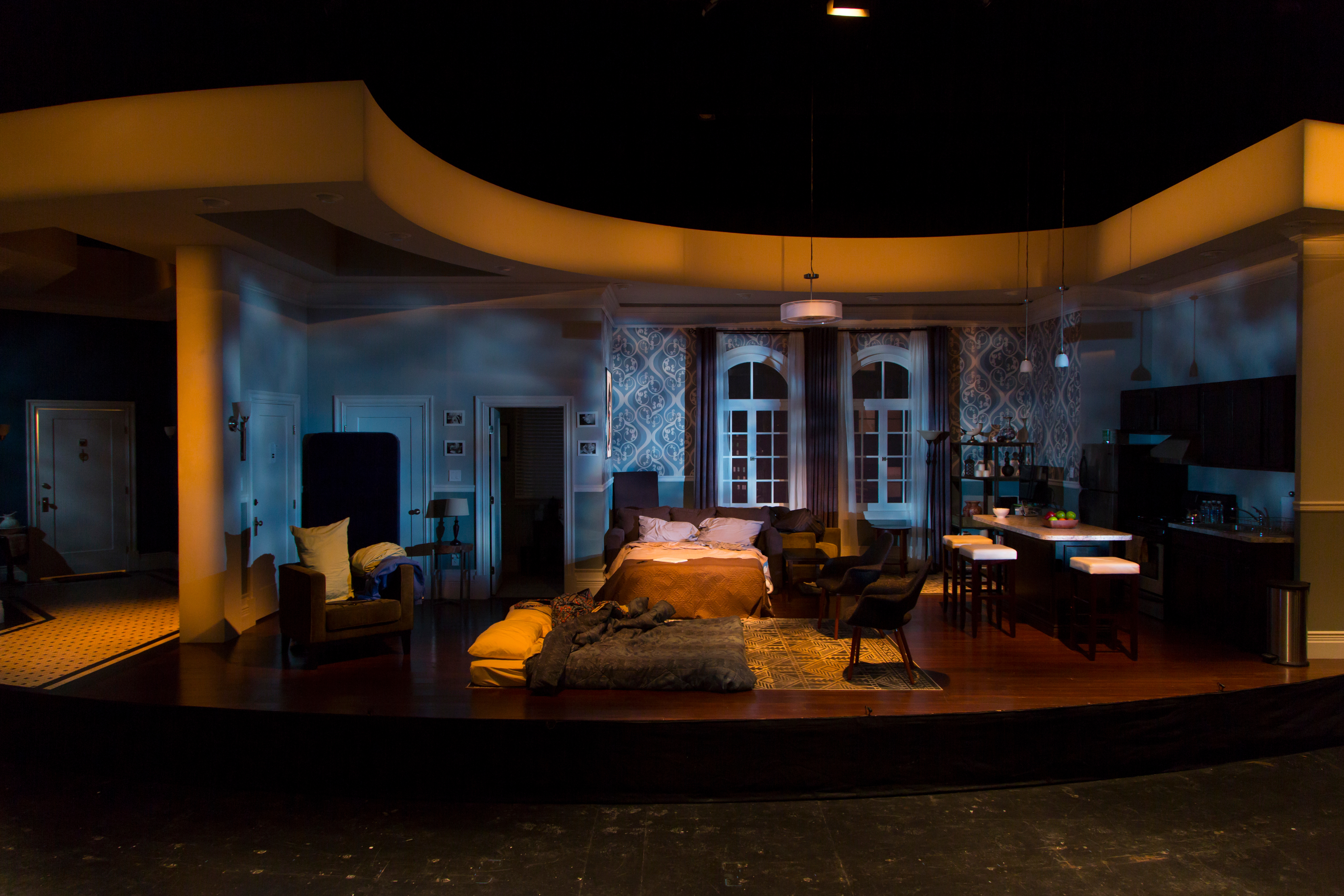 "Apartment from GSP's 2017 production of  ""Bad Jews"" (photo by T. Charles Erickson)"