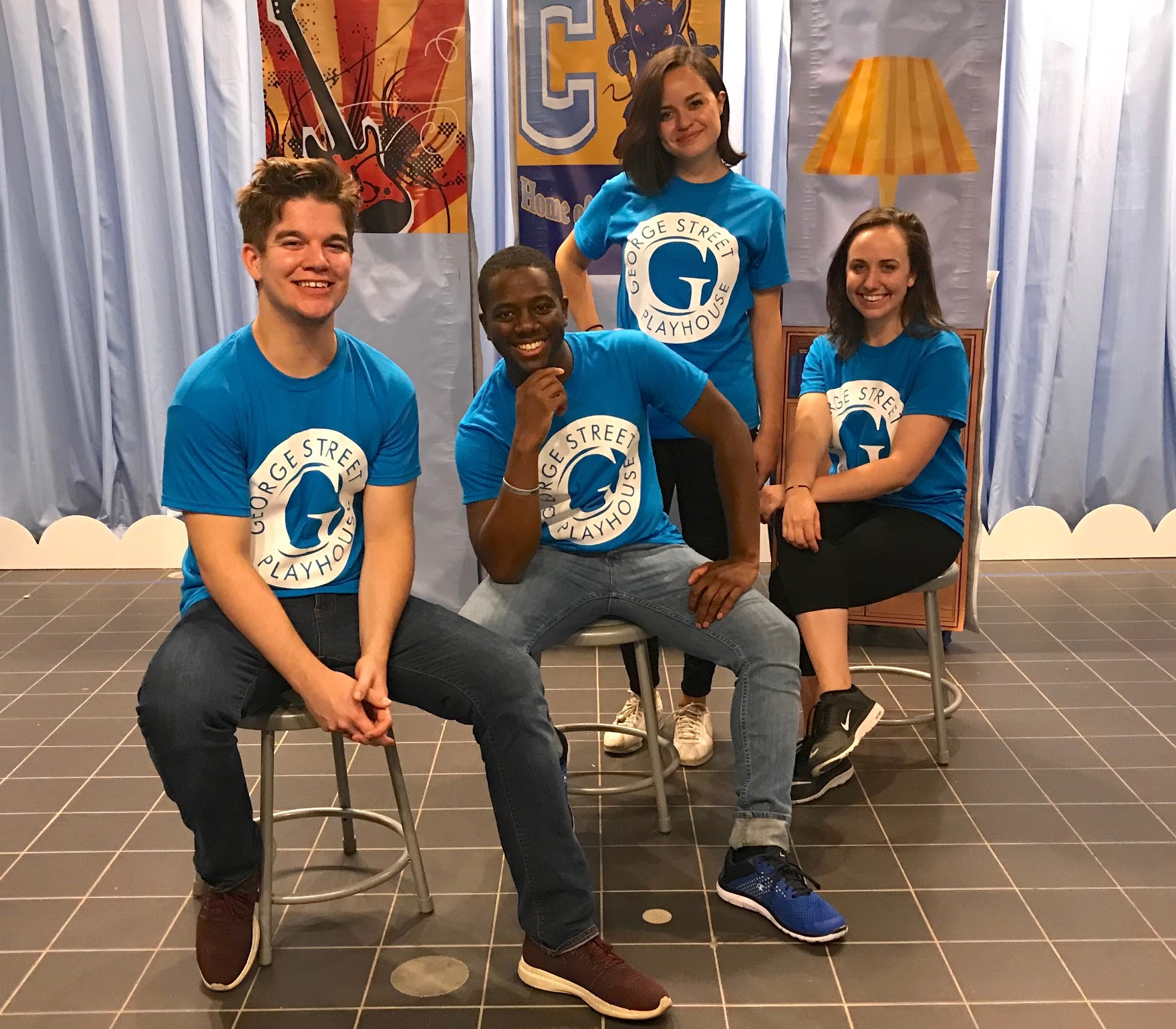 The Houston cast of George Street Playhouse's Austin the Unstoppable: (L to R) Mason Butler, Danté Anderson, Katie Lugo and Carol Foose. (Photo: George Street Playhouse)
