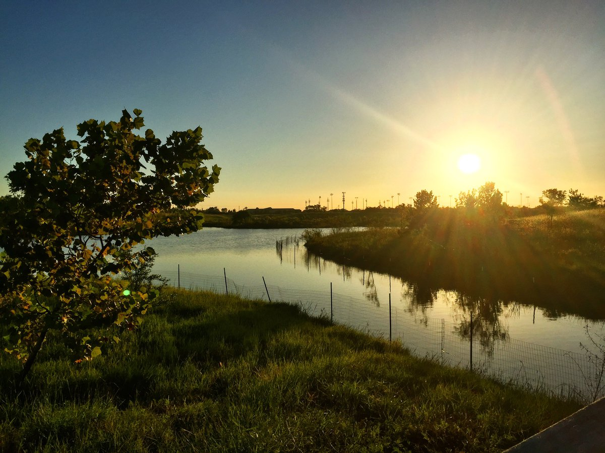 Gorgeous views of the Houston sunset from Willow Waterhole Greenspace.
